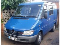 SPRINTER SWB-VERY RARE 213 CDI-130 BHP-6 SEATER WINDOV VAN-ENGINE AND GEARBOX EXCHELLENT
