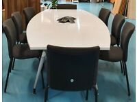 White Gloss Finished Boardroom/Meeting/Conference/Office table seats up to 12