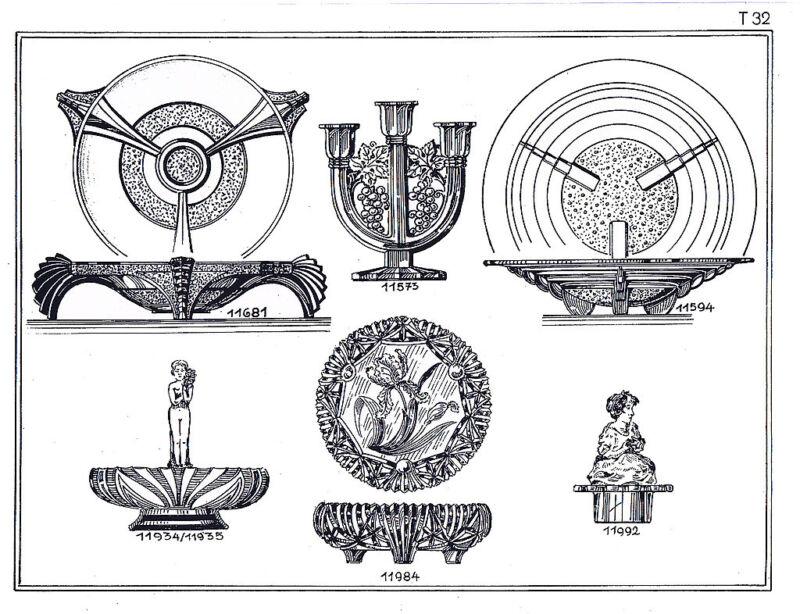 Josef Inwald 1940 catalog reprint-bohemian czechoslovakian czech glass art deco