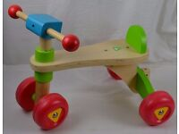 Early Learning Centre ELC Wooden Ride On Trike Childs Childrens Kids Bike Bicycle