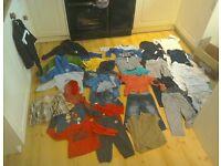 Boy toddler 1-2yr converse,next,adidas, Ralf lauren +suit with suit bag CLOTHES BUNDLE