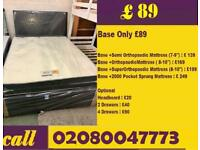 Brand New Double Divanbed Base in black Color With Memory Orthopaedic Mattress