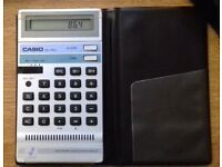 Casio AQ-1700 - Vintage & Classic Calculator & Watch With Wallet Case