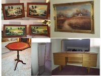 Dressing table Schreiber - Oil paintings' picture - Side / occasional table - Tall mirror