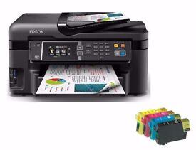 Epson WorkForce WF-3620DWF Printer Black + FREE BUNDLE 4 X INK CARTRIGE
