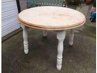 Rustic circular table
