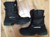 VGC Kynox Protex KX025 Leather Waterproof Lace and Zip Gussetted Safety Motorcycle Boots (UK 11)