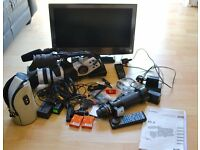 """CANON XL2 CAMCORDER AND 21.6"""" TV"""