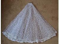 Polka dot wedding veil