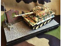 RARE RIPMAX 1/54 TIGER 1 RC MODEL TANK GERMAN ARMY WW2 WWII SECOND WORLD WAR MILITARY VEHICLE AFV