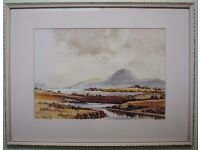 Original Watercolour Irish Art THE MOURNES AFTER MAURICE C WILKS BY VIC HAMILTON