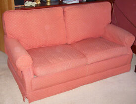 Red fabric metal action sofa bed