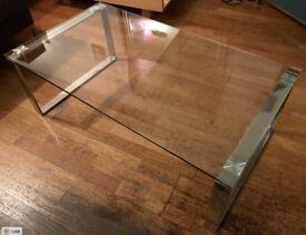 Beautiful glass coffee table