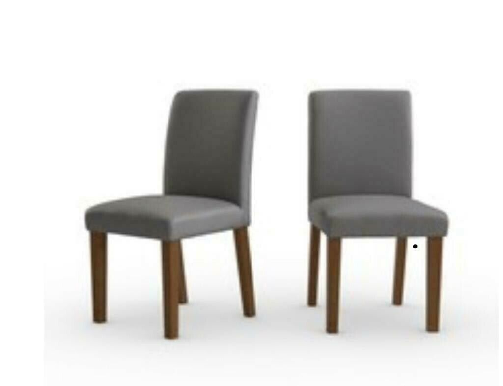 Surprising Next Moda Ii Dining Chairs X 4 Grey Faux Leather Dark Wood Rrp 398 In Muirhead Glasgow Gumtree Unemploymentrelief Wooden Chair Designs For Living Room Unemploymentrelieforg