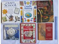 6 BOOKS craft artists design cross stitch candle making arts and crafts guides home clearance SALE