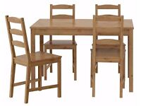 Pine Ikea Table and 4 Chairs