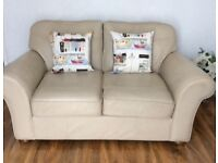 M&S Cream Leather Sofa - Excellent condition