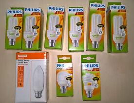 Nine Low Energy Light Bulbs