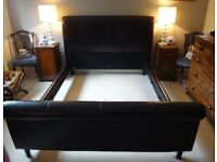 King Size Double Bed - needs re-upholstering - very heavy substantial frame - mattress NOT included.