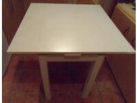 Ikea Bjursta White Extending/Extendable Table