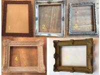 5 Vintage / Ornate Picture Frames