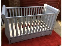 John Lewis, Cot / Sleigh Bed, Ex Display 'Gorgeous '