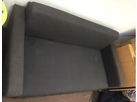 IKEA ULLVI Two-seat sofa-bed, Ransta dark grey