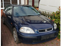 Honda Civic 1.5i VTech - Spares or Repair - Very Low Milage Engine