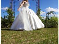 Beautiful designer wedding dress Size 10