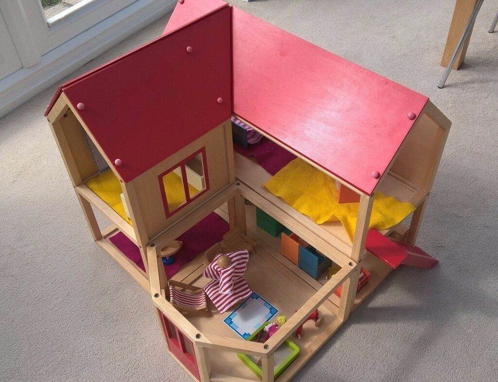 Elegant Early Learning Centre: Wooden Dolls House Furnished With Lots Of IKEA  Furniture