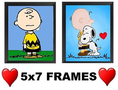 💗 Charlie Brown Pictures 5x7  Peanuts Snoopy Wall Hangings Bedroom Home Decor