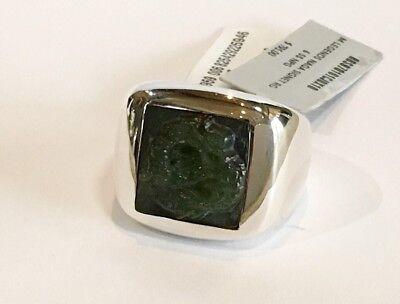 John Hardy Men's Legends Naga Green Jade Dragon Silver Signet Ring $795 NWT 10