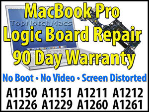 MACBOOK PRO LOGIC BOARD REPAIR A1150 A1151 A1211 A1212 A1226 A1229 A1260 A1261