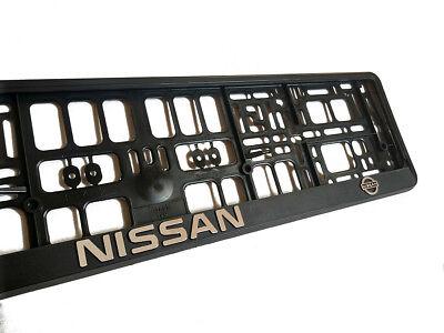 License Plate Frame Holder (Black 3D NISSAN European Euro License Number Plate Holder Frame German)