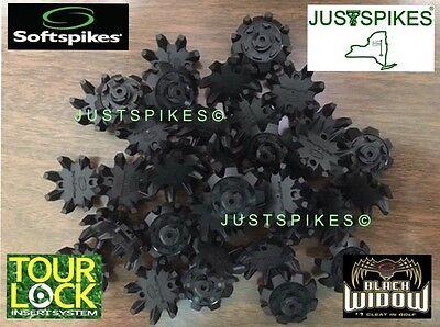 16 New BLACK WIDOW Tour Lock Fast Twist Golf Spikes Cleats Softspikes - Black Widow Fast Twist