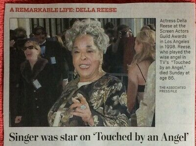 1931 - 2017 OBITUARY DELLA REESE SINGER TOUCHED BY AN ANGEL CHICO AND THE MAN