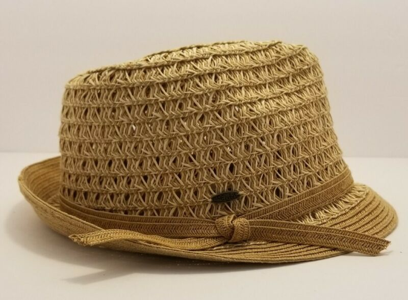 Scala Pronto Tan Paper Braid Panama Hat Women One Size Fits Most
