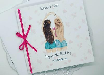 BFF Best Friends Happy Birthday Card Personalised 16th 18th 21st 25th 30th