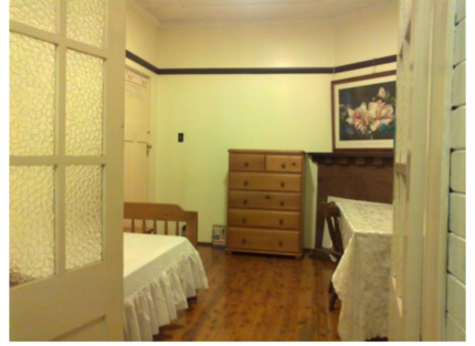 Double bed room with sunny balcony room renting