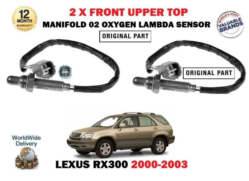FOR LEXUS RX300 3.0 2000-2003 2 X FRONT UPPER MANIFOLD 02 OXYGEN LAMBDA SENSOR