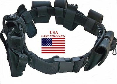 Duty Belt 10 PC OFFICIAL Police Officer Security Guard Law Enforcement Equipment - Police Officer Belt