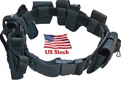 Duty Belt Police Officer 10 PIECE Security Guard Law Enforcement Equipment Gear - Police Officer Belt
