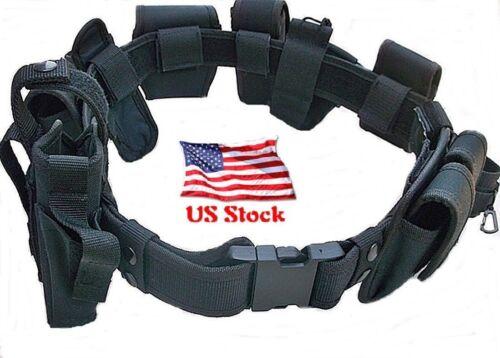 Duty Belt 10 PIECE Security Guard Law Enforcement Equipment Gear