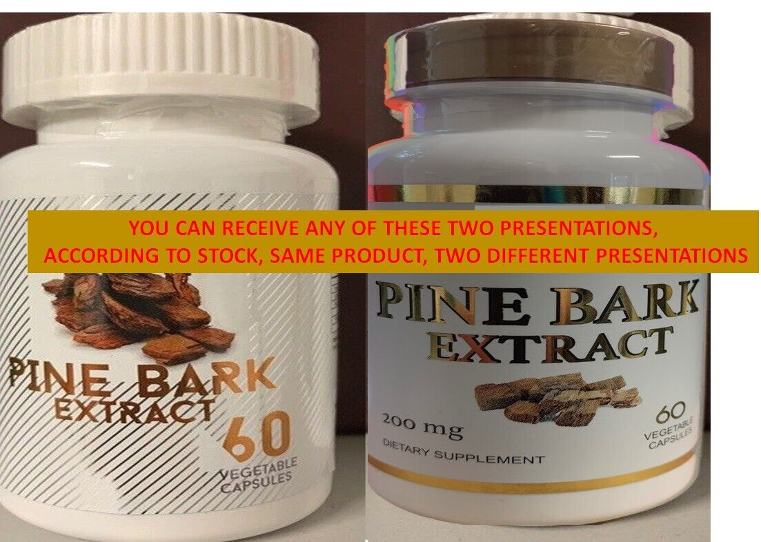 PINE BARK EXTRACT 180 CAPS 200mg BEST DEAL of pine Pycnogenol French Maritime 3 6