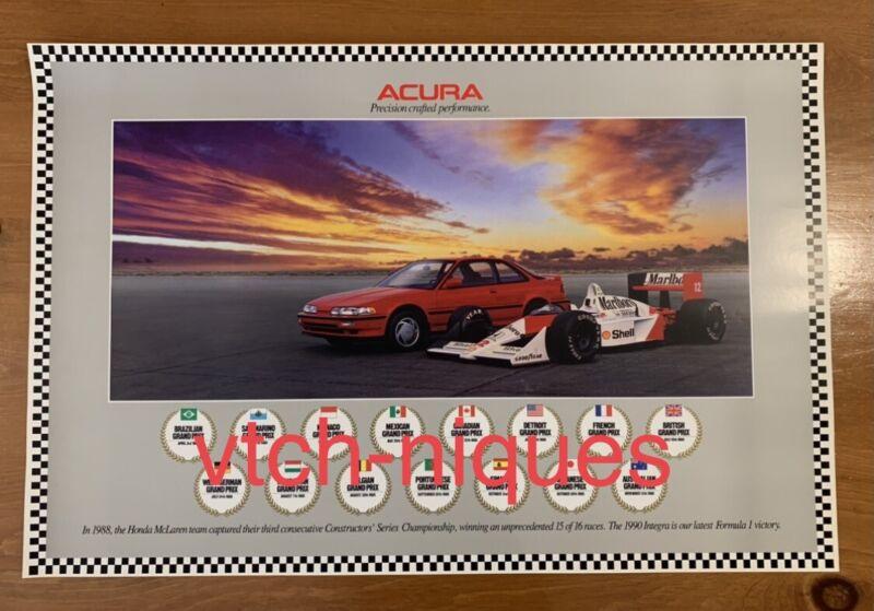 Acura Integra DA Poster F1 Senna Grand Prix