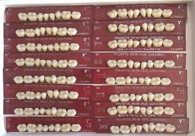 Dentsply New Hue Dentist Dental Lab Porcelain Denture Teeth 29s  L 73b4