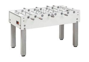GARLANDO-G-500-Pure-White-Professional-Football-Table-Sleek-Modern