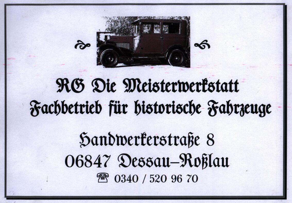 RG-Autoteile / Die Meisterwerstatt