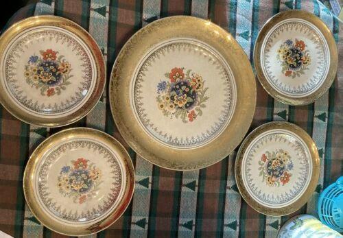 Cuttingham  & Pickett Sebring Corp. Plate And 4 Dessert Plates