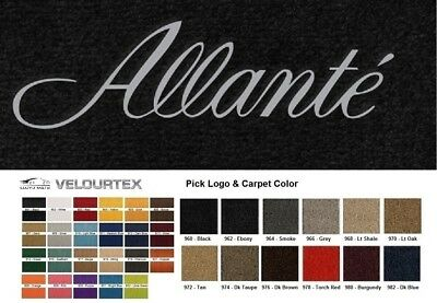 Lloyd Mats Cadillac Allante Custom Embroidered Velourtex Floor Mats (1987-1993)
